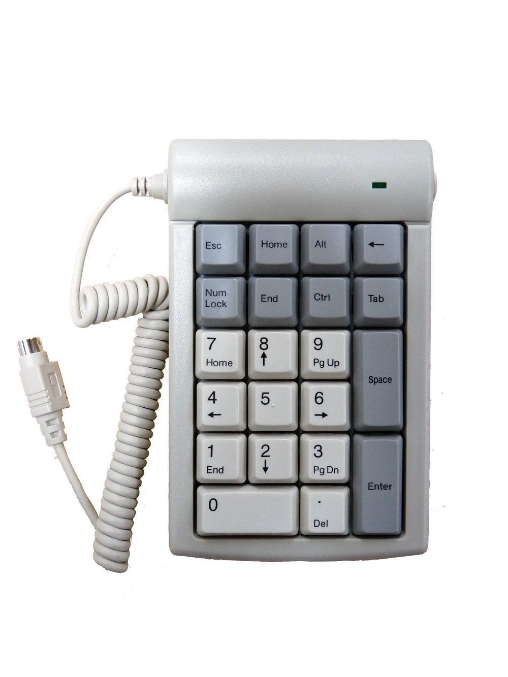 DSI 21 Keys Ivory PS/2 Numeric Keypad