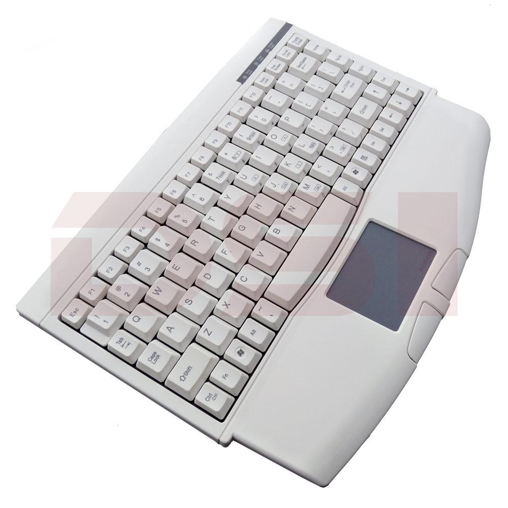 Solidtek Mini Ivory USB Keyboard with Touchpad KB-ACK540U