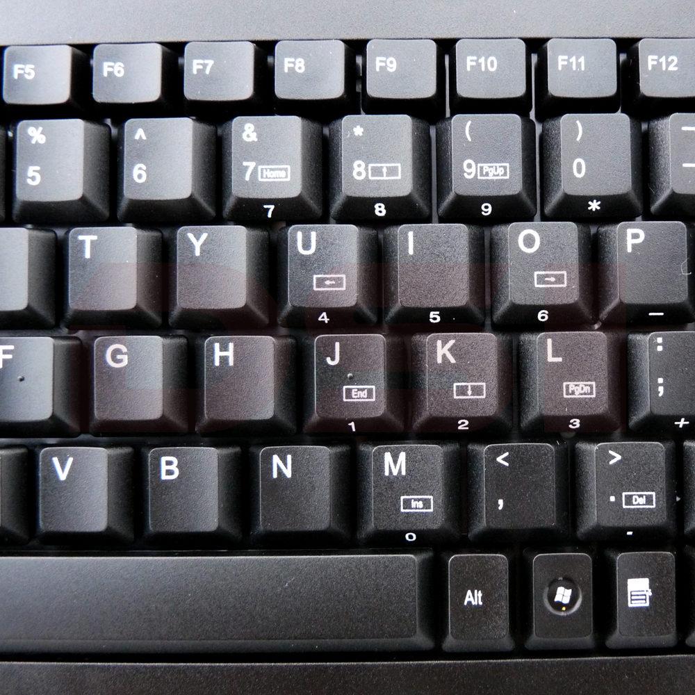 Solidtek Mini Membrane Black USB Keyboard ACK-595UB