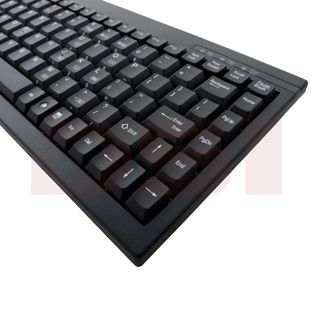 Solidtek Mini Membrane Black PS/2 Keyboard ACK-595B