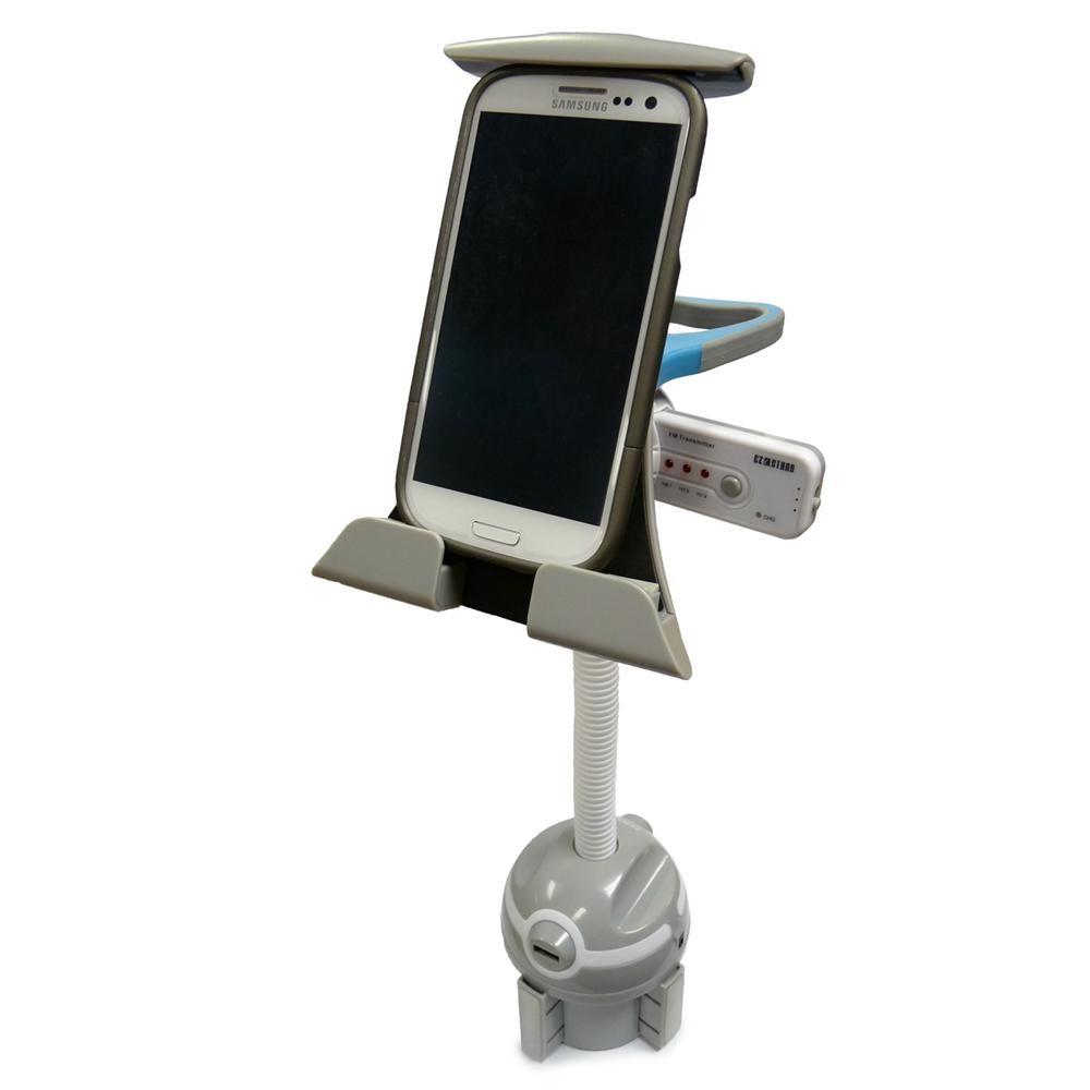 Universal Car Cup Holder Mount w/ Gooseneck for iPad, Tablets & Smartphones