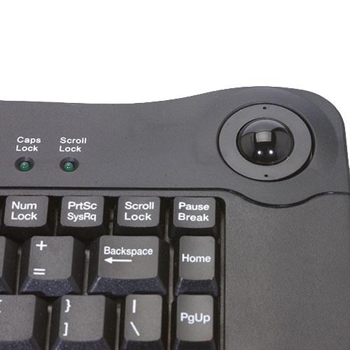 Solidtek Mini Black USB Keyboard with Trackball ACK-5010UB