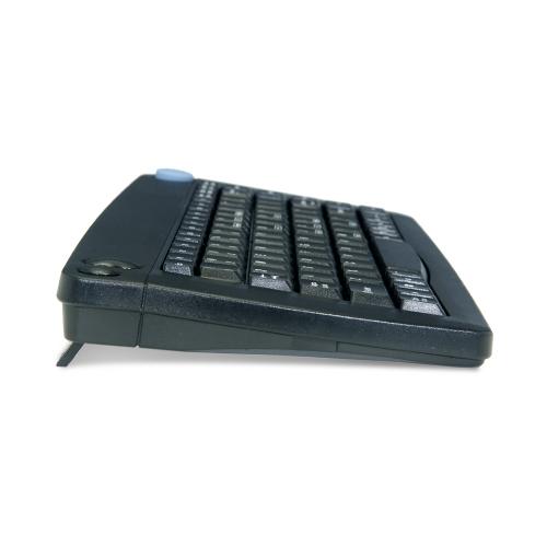 Solidtek IR Wireless Black PS2 Keyboard w/ Built in Trackball ACK571B