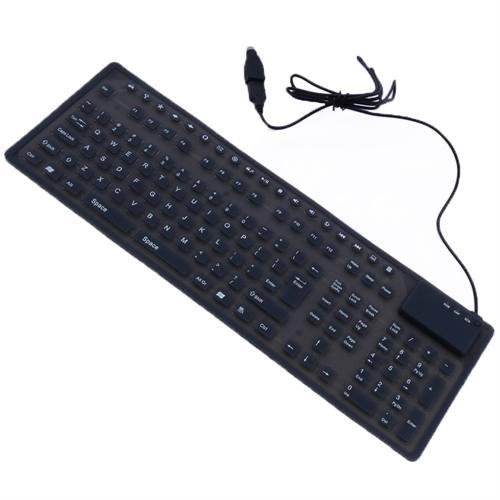 DSI Flexible USB Full Size Keyboard with Multimedia Keys MFR-128