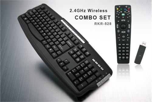 2.4GHz Wireless HTPC MCE Multimedia Keyboard w/ Media Remote RKR-528