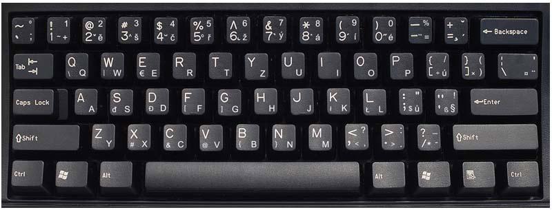 Czech (QWERTY) Keyboard Labels...