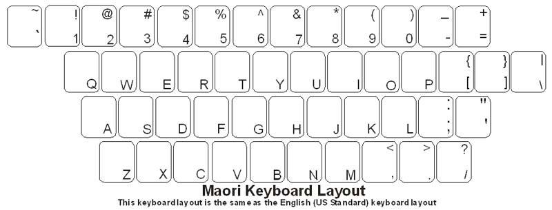 maori keyboard labels