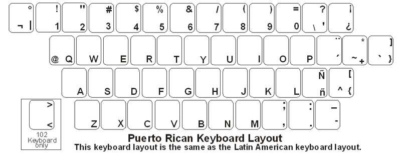 puerto rico  spanish  keyboard labels
